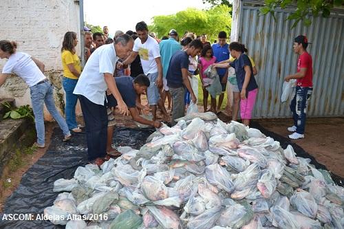 16 Toneladas: Prefeitura de Aldeias Altas mantém tradição da distribuição de pescado