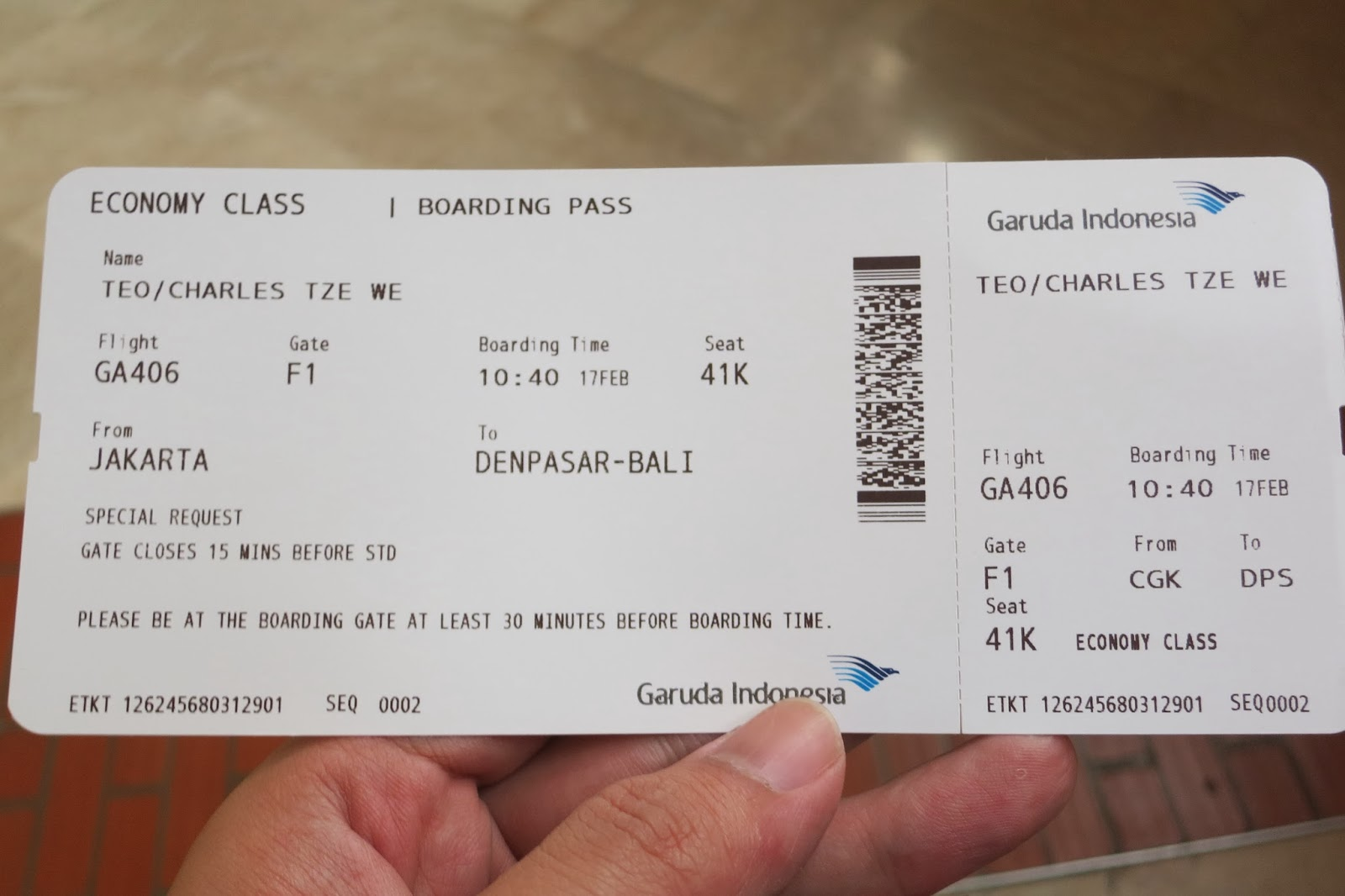 Charles Ryan S Flying Adventure Flying On Garuda S Airbus A330 200
