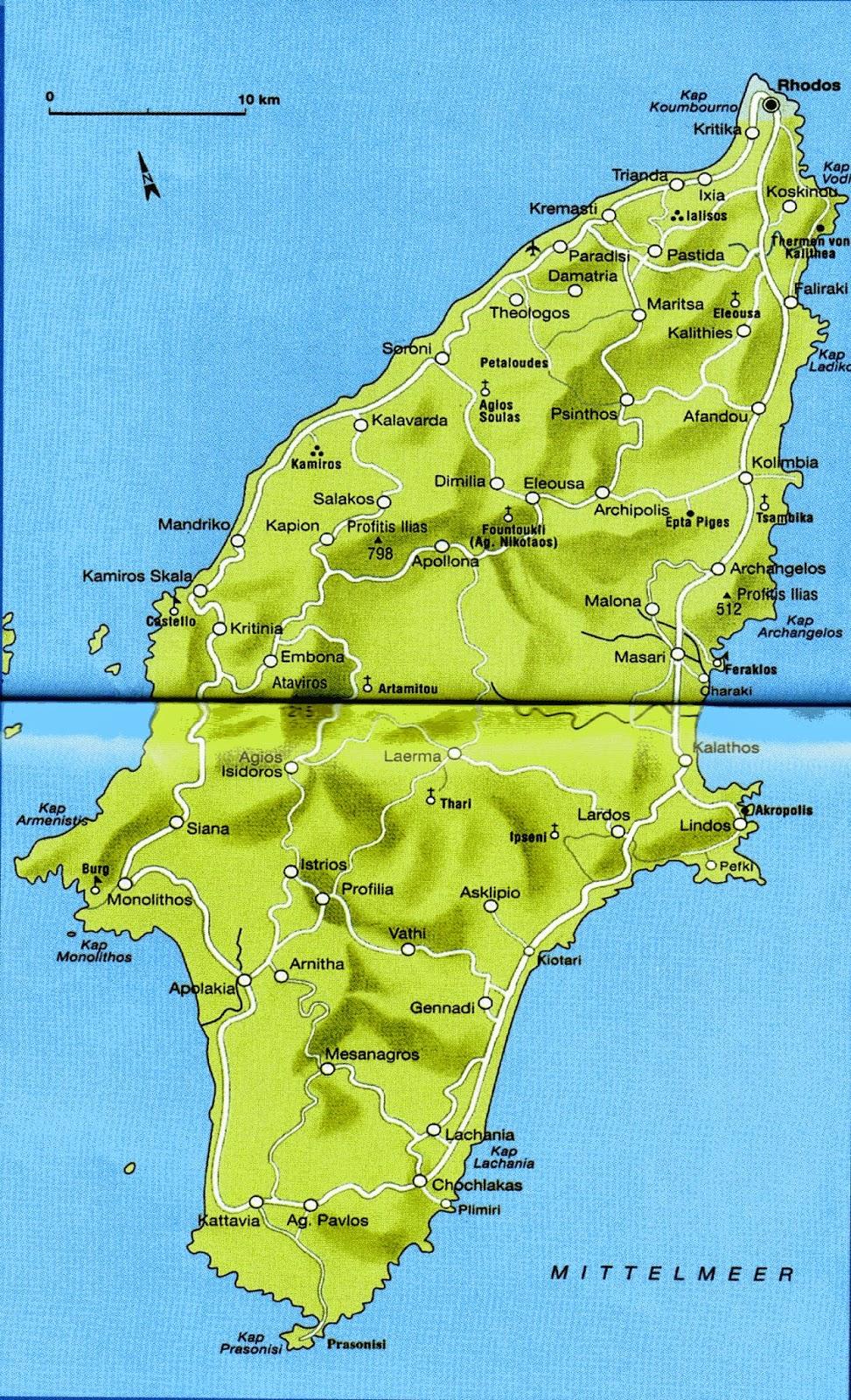 Rhodos Karte Mit Sehenswürdigkeiten.Rhodos Karte Sehenswürdigkeiten Hanzeontwerpfabriek
