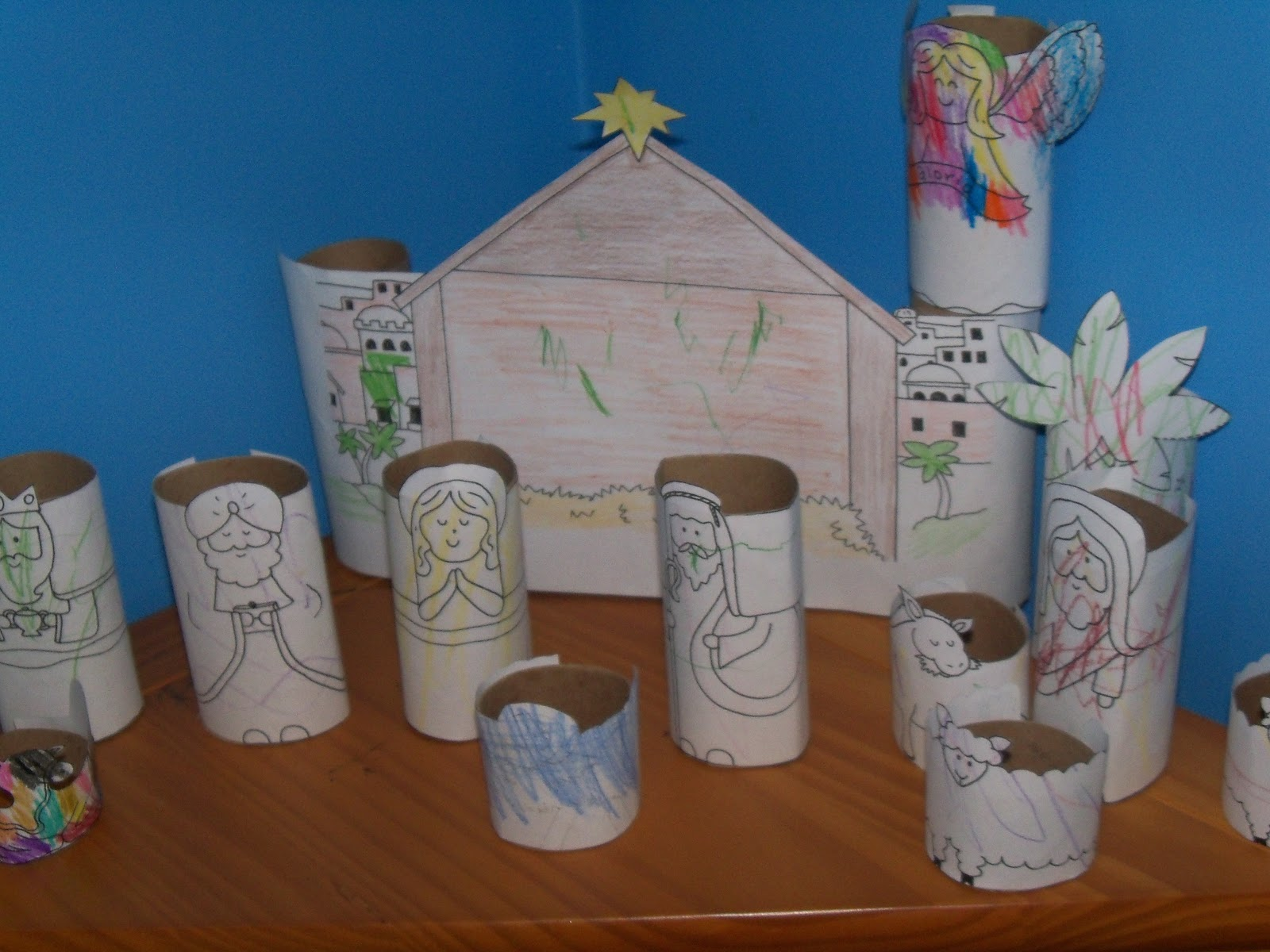 123 Busy Bees Christmas Crafts For Preschoolers Nativity