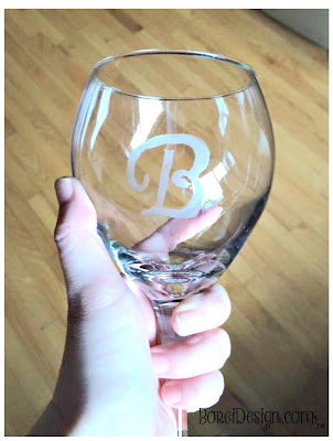 How to create your own etching stencils and monogrammed wine glasses.