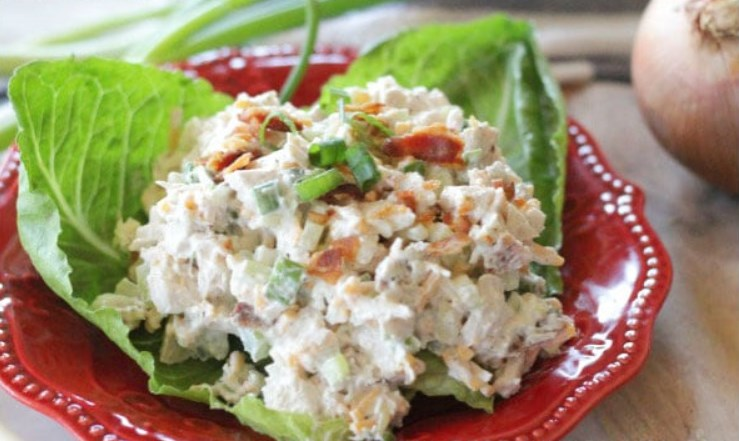 The World's Best Loaded Chicken Salad #salad #healthy