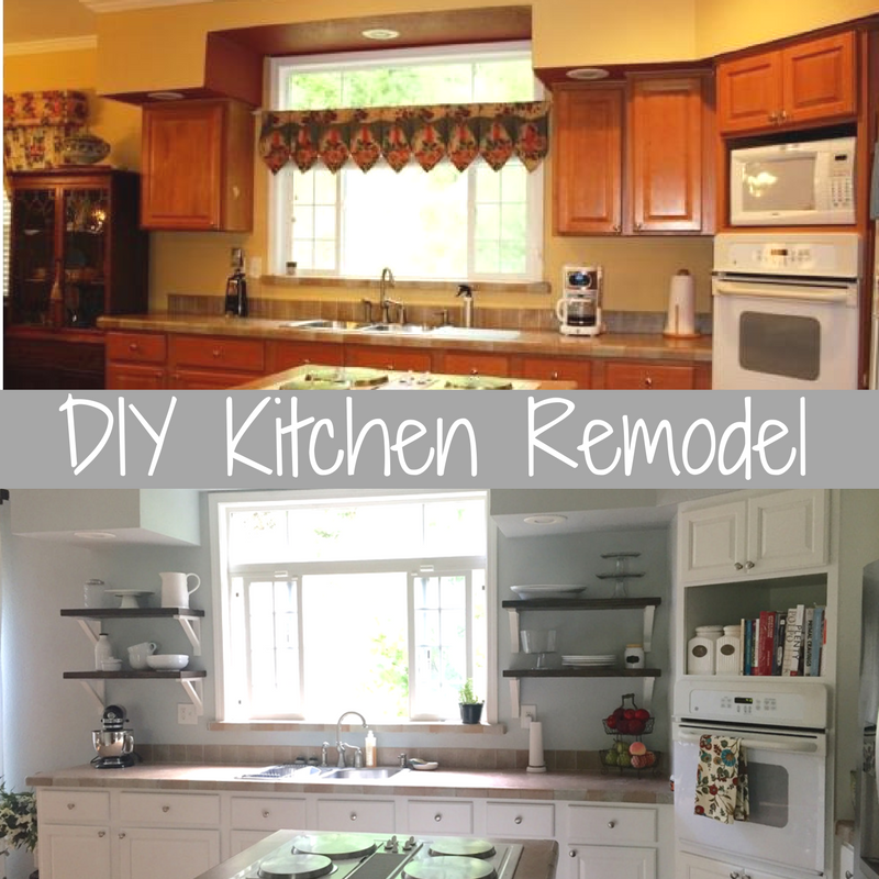 Kitchen Cabinets Or Open Shelving We Asked An Expert For: DIY Farmhouse Kitchen Remodel