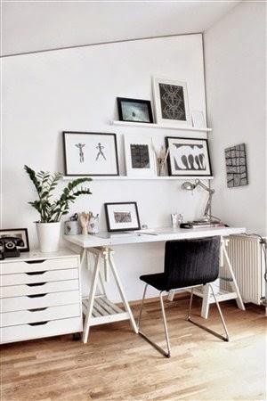 desain model ruang dan meja kerja dan belajar minimalis