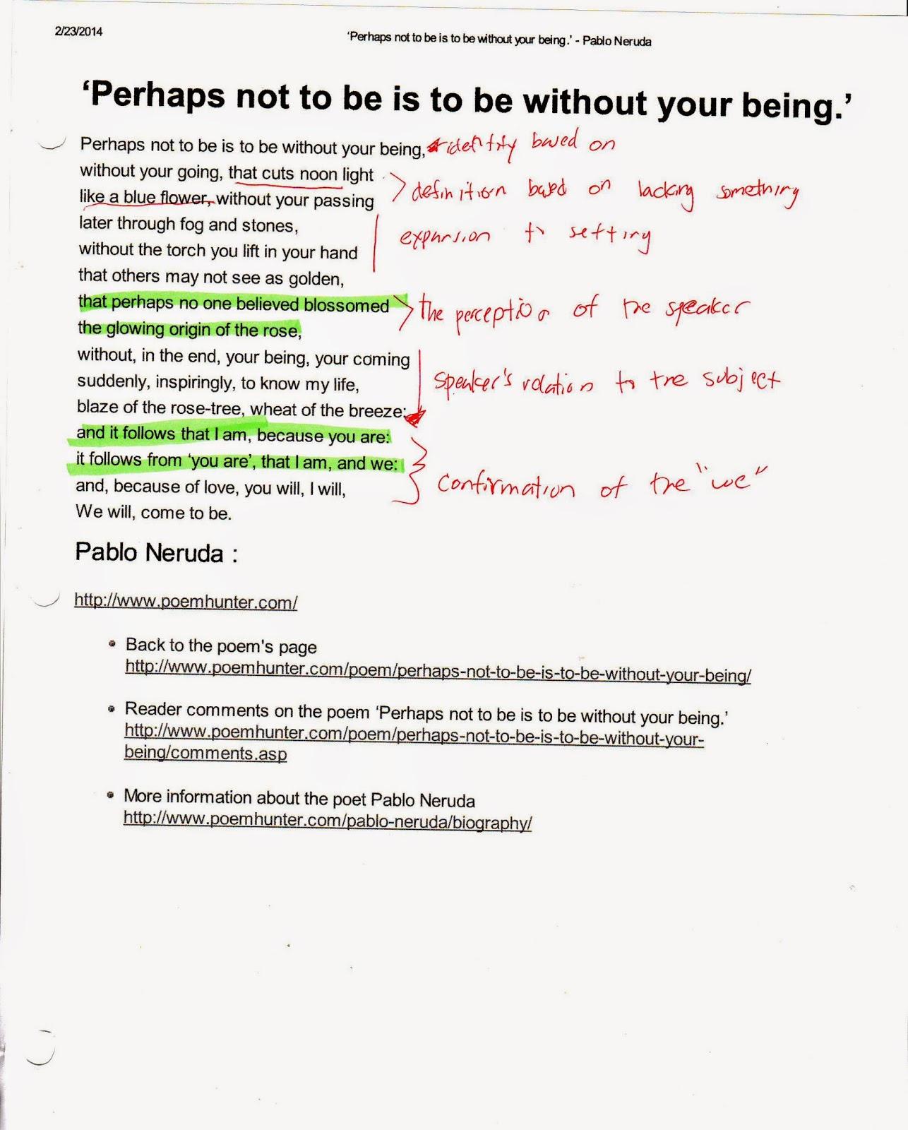 Walking Around by Pablo Neruda: Summary & Analysis