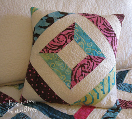 Batik quilted pillow