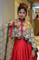 Anya South Actress model in Red Anarkali Dress at Splurge   Divalicious curtain raiser ~ Exclusive Celebrities Galleries 025.JPG