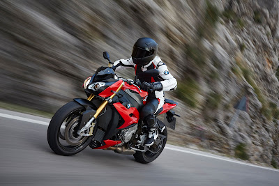 BMW S 1000 R on the road
