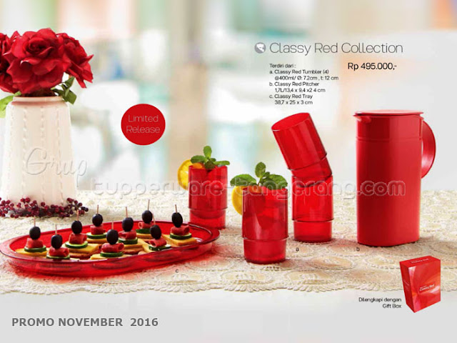 Classy Red Collection Promo Tupperware November 2016