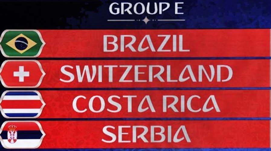 Russia 2018: le partite del Gruppo E con Brasile Svizzera Costa Rica Serbia | Mondiali di Calcio
