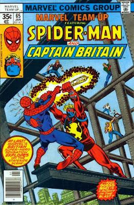 Marvel Team-Up #65, Spider-Man vs Captain Britain