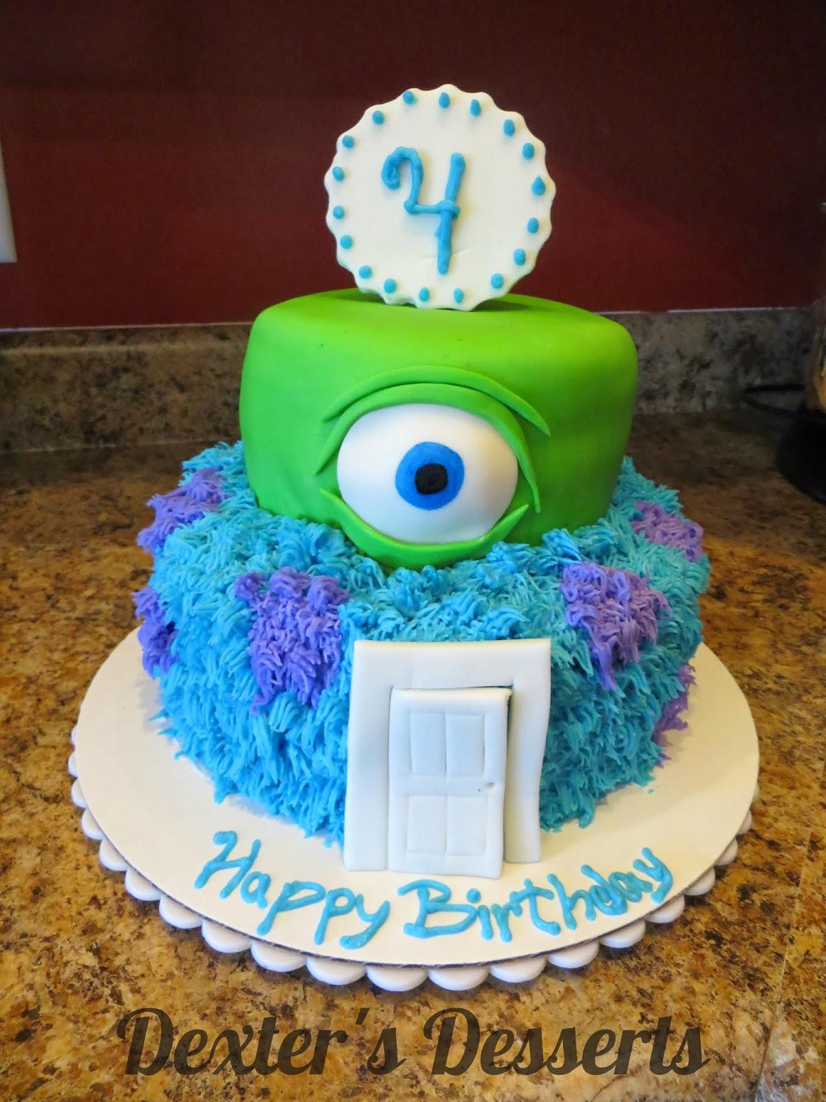Surprising Dexters Desserts Monster Cake Personalised Birthday Cards Epsylily Jamesorg