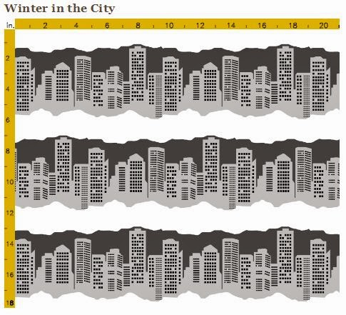 Winter in the City fabric by eSheep Designs