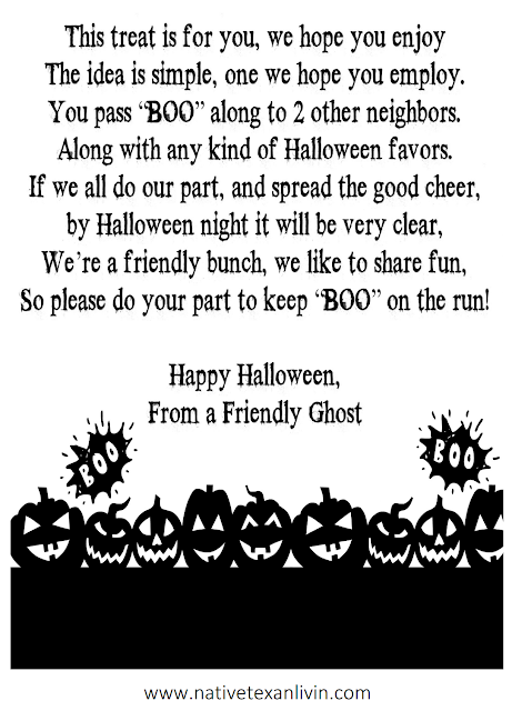 Simple Free Printable for an easy to assemble Boo Basket