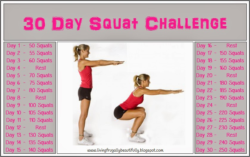 Living Frugally, Beautifully: 30 Day Fitness Challenge