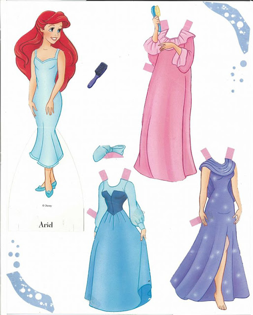Disney Princess paper dolls filmprincesses.filminspector.com