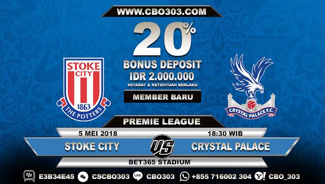 Prediksi Bola Stoke City VS Crystal Palace 5 Mei 2018