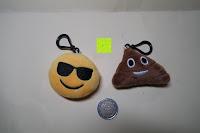 """Vergleich Münze: Smakey®2""""mini Emoji Gesicht Express Plüsch Spielzeug Schlüssel Kette Tasche Zubehör Satz von 7"""