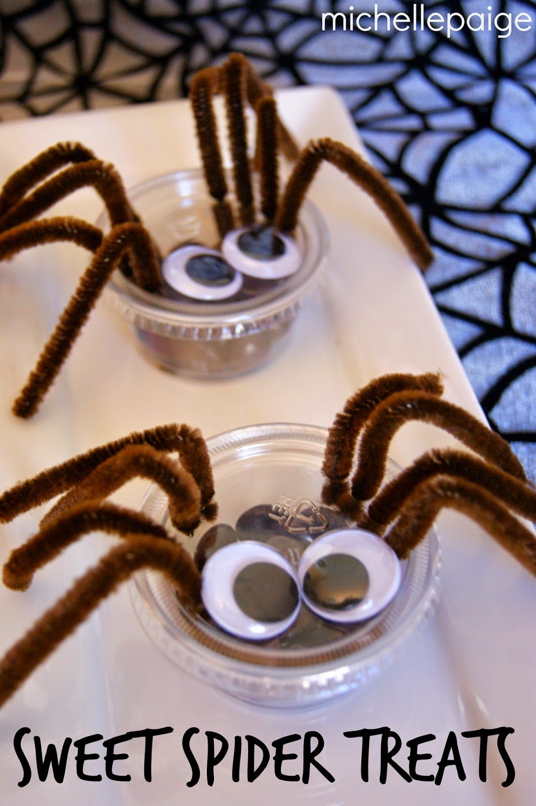 Condiment Cup Spider Treats