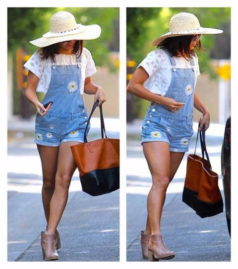 Vanessa Hudgens Wearing Sun Hat