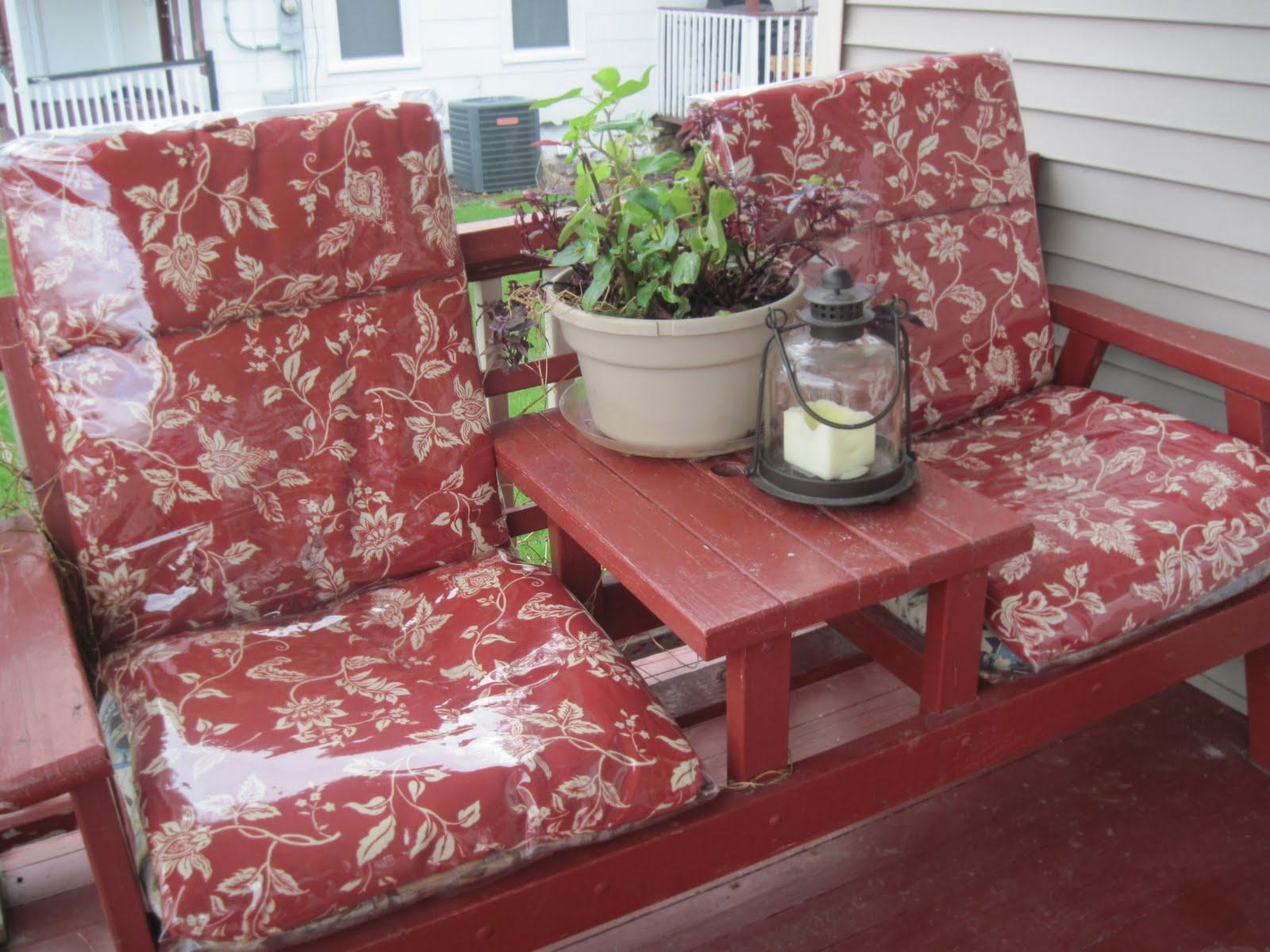 Chair Cover Vinyl Gym Qvc Yarn Over Deck Covers Tutorial