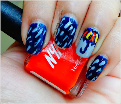 """It's Raining.... "" - NailArt Inspired By Rainy Season.."