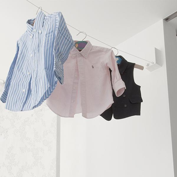 森田アルミ工業 室内物干しワイヤー pid4M エアフープ オシャレ 部屋干し インテリア 民泊 備品 洗濯