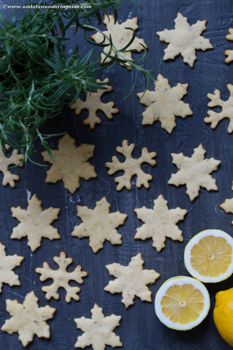 lemon and rosemary shortbread biscuits