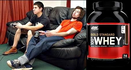 Gold standard batido proteína sedentarios