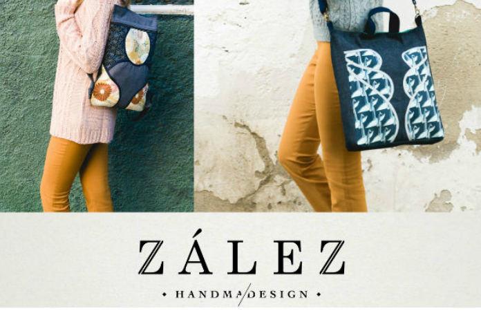Bolso o mochila hecha a mano Zalez by Nuria González