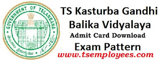 TS KGBV Hall ticket 2017 Download Admit Card Call letter @ ssa.nic.in