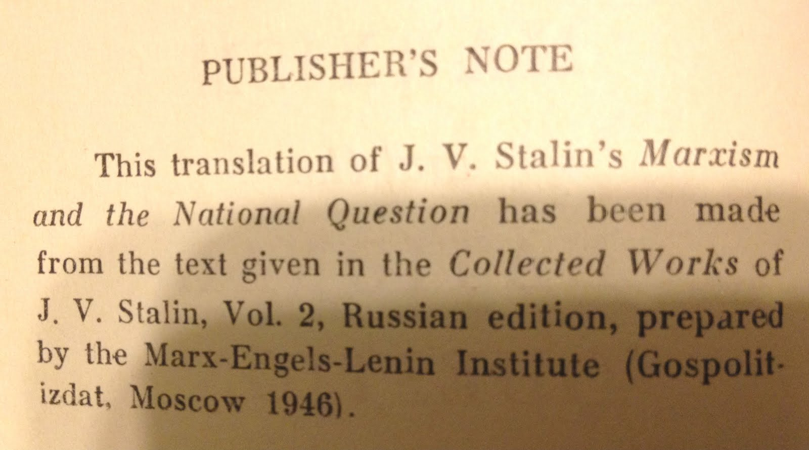 Lenin Thesis On The National And Colonial Questions