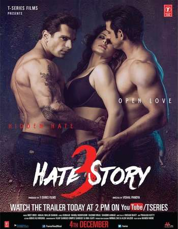 Poster Of Hate Story 3 2015 Hindi 150MB Web-DL HEVC Mobile ESubs - UNCUT Watch Online Free Download Worldfree4u