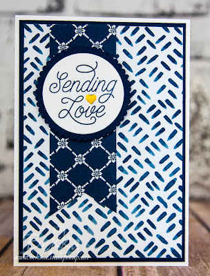 Make in A Moment - Sending Love with Blue, White and a Pop Of Bright!  Learn to make cards here