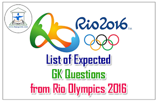 List of Expected GK Questions from Rio Olympics 2016