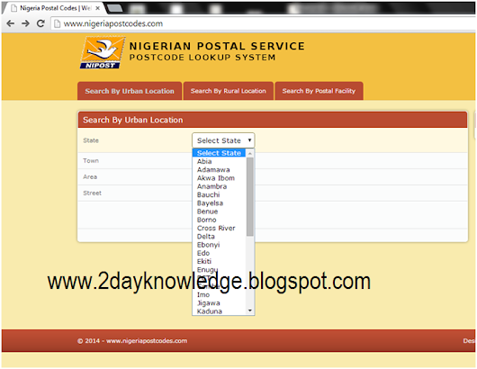 How To Get Nigeria Postal Code To Fill Your Online Or Paper Application Form ~