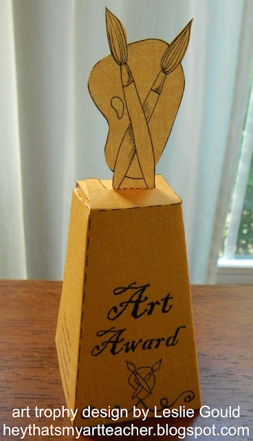 Click On This Link Art Award Template To Download A DIY Paper Make Nifty Trophy The Design Is From Leslie Gould At