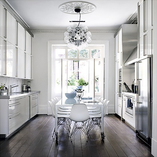 Gold And Gray White Amp Bright Kitchens