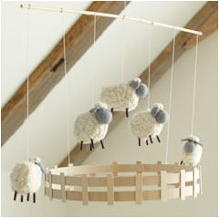 Take A Look At This Room And The Sheep Mobile From Pottery Barn Kids I M In Love More Maybe Themed Baby Shower