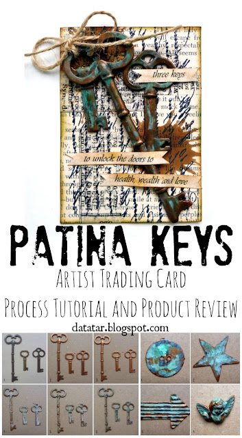 Sophisticated Finishes Patina Key Artist Trading Card Process Tutorial and Product Review by Dana Tatar