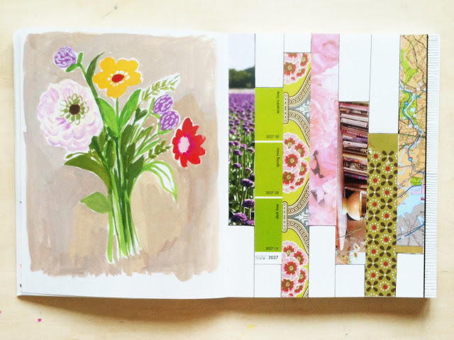 2x2, 2x2 sketchbook, #2x2sketchbook, sketchbooks, collaboration, collage, painting, Dana Barbieri, Anne Butera