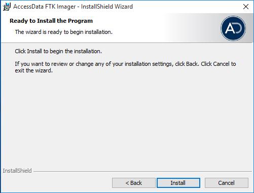 AccessData FTK Imager, Installazione