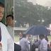 President Duterte Refused To Take An Umbrella To Show His Solidarity Despite Heavy Rain