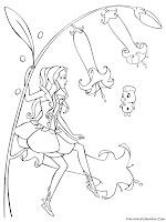 Mewarnai Barbie Fairytopia Mewarnai Gambar