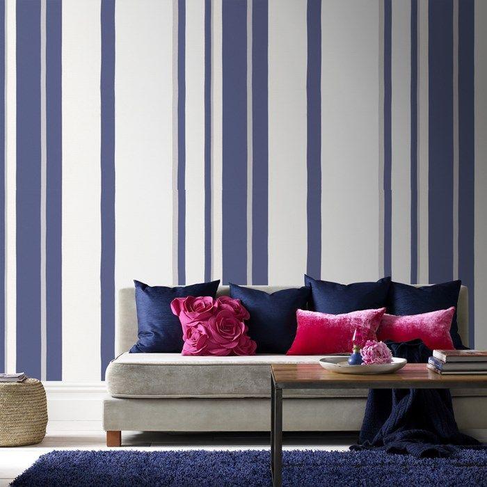 wandgestaltung farbe wohnzimmer streifen | minimalistische haus design - Wandgestaltung Mit Farbe Wohnzimmer