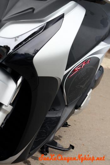 Honda Sh sơn phối màu Lamborghini Aventador