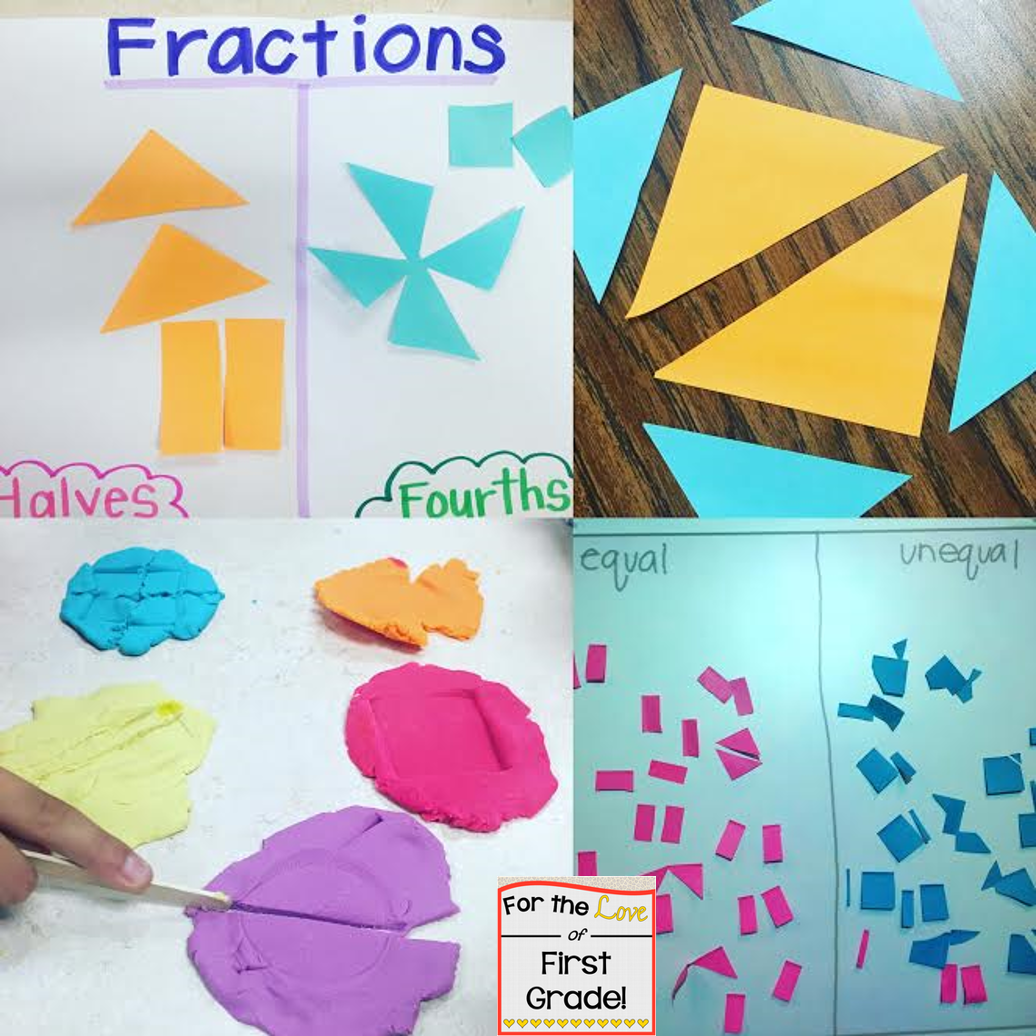 For The Love Of First Grade Reviewing Math Skills Fractions
