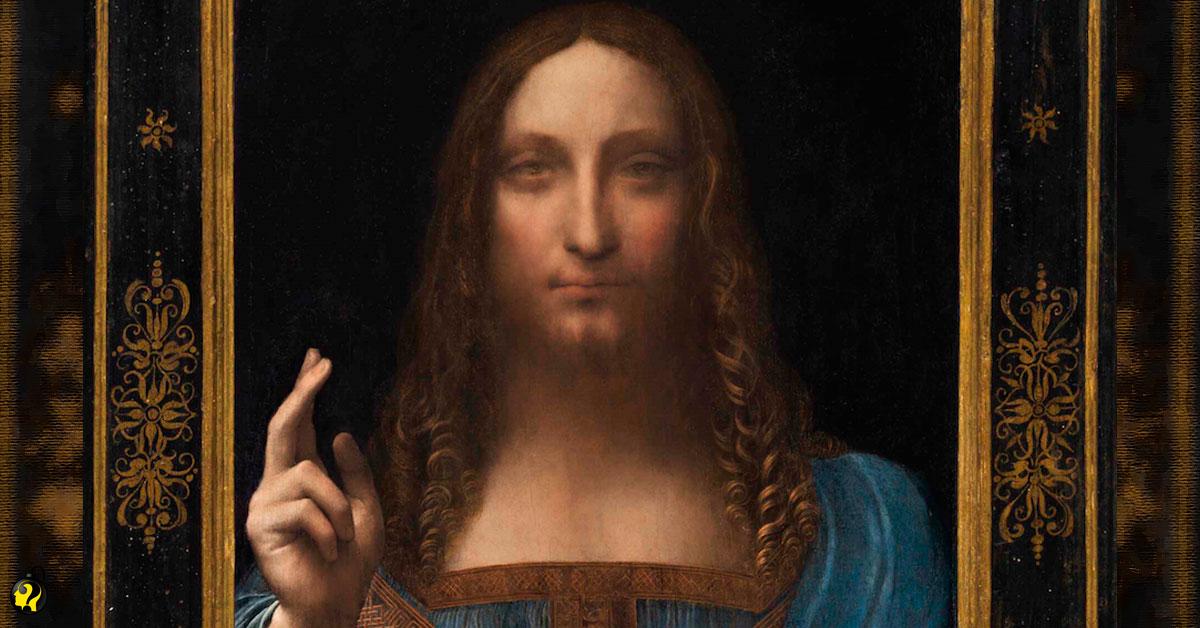 """""""Pintura perdida"""" de Da Vinci bate recorde em leilão, por US$450 milhões"""