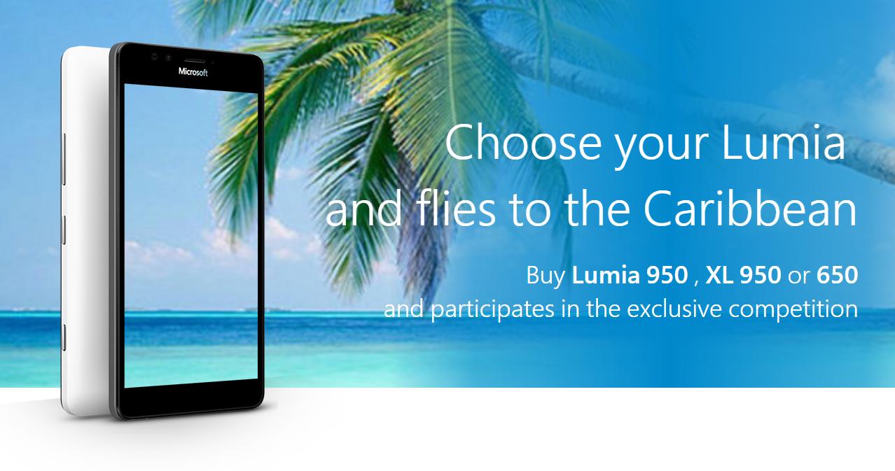 Se hai o acquisti un Microsoft Lumia 950, 950 XL o 650, puoi vincere HTNovo