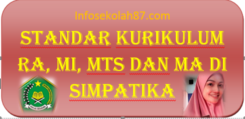 STANDAR IMPLEMENTASI KURIKULUM MADRASAH RA, MI,MTs dan MA DI SIMPATIKA Versi 1.0 (Rilis Tanggal 8 Maret 2016)
